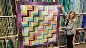 Quilting Designs For A Rail Fence Quilt Free Pattern Donnas Modern Rail Fence From A Jelly Roll Quilt