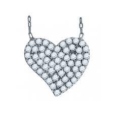 925 silver crystal heart pendant