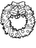 Small Picture Christmas Wreaths and Holly Coloring Pages