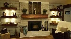 floating shelves fireplace bookshelves shelf for