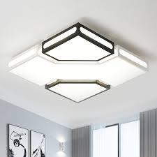 modernity square box flush lamp acrylic
