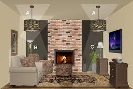lighting a room. Living Room Lighting Design Plan 2 A M