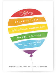 Balloon Birthday Invitations Kids Balloon Theme Birthday Party Minted