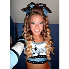 hair makeup cheer cheerleading i 39 m not saying it s ok to kick a off