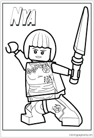 Lego Ninjago Coloring Pages Cole Coloring Pages Coloring Page