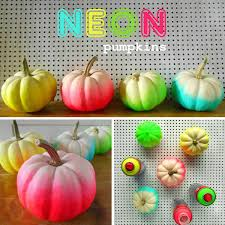 neon mini pumpkins