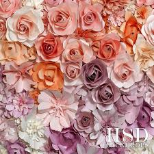 Paper Flower Background Paper Roses Photography Backdrop Vinyl Spring Photo Props Easter