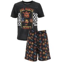 boys novelty pajamas five nights at freddy s black shorty pajamas for boys