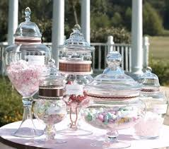 Decorated Candy Jars Ribbon Decorated Jars Candy Buffet by Becky 21