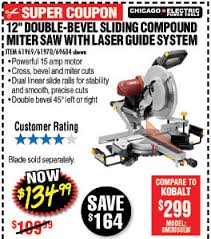 harbor freight miter saw. harbor freight 12 in double bevel sliding pound miter saw with laser guide system