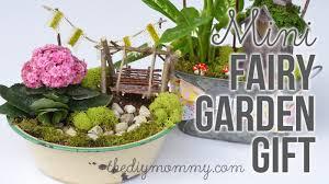 how to make a diy miniature fairy garden gift