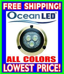 Ocean Lighting Returns Ocean Led Hybrid 30i Underwater Light W Driver Blue 004 000001