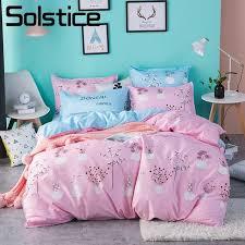 solstice home textile pink flower bedlinen girls kids teenage bedding sets duvet cover pillowcases bed sheet