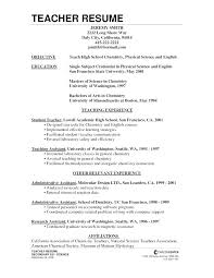 Teacher Resume Objectives Objective For Clerical Resume Entry Level