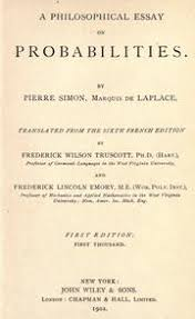 a philosophical essay on probabilities edition open library cover of a philosophical essay on probabilities by pierre simon marquis de laplace