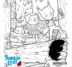 We have one of the best coloring pages for kids collection online. Tumble Leaf Amazon Original Series Leaf Coloring Page Coloring Pages Arts And Crafts For Kids