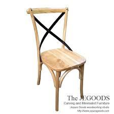 cross back chair beautiful mid century retro chair manufactured by jegoods woodworking indonesia kursi silang untuk cafe restoran bar