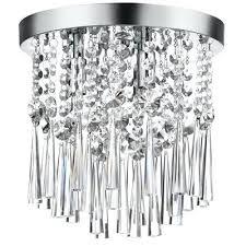 chrome flush mount light in w polished chrome crystal semi flush mount light chrome flush mount bathroom light