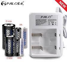 PALO yeni akıllı gösterge ışığı ekran pil şarj cihazı için ni cd Ni Mh  AA/AAA/C/D boyutu şarj edilebilir pil kullanımı|battery charger|charger  forbatteries battery charger - AliExpress