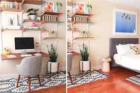 orange home office. Colorful-bedroom-home-office Orange Home Office