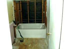 how to replace tub with shower install combo remove fiberglass one piece bat