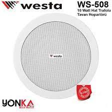 Westa Ws-508 Alçıpan Tavan Hoparlörü 13 cm 5-10 Watt / 100V
