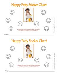 Happy Girl Potty Sticker Chart Fillable Acn Latitudes