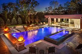 ... with a modern pool. Designs can be very elaborate and can be planned to  complement the architecture of your homeeven it is not a modern style home.