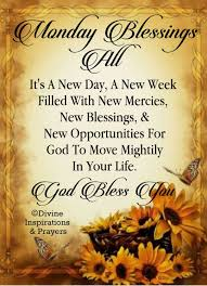 Monday Blessings Scripture Inspiration Monday Blessings
