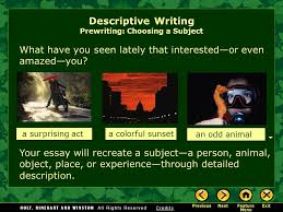 writing workshop descriptive writing descriptive essay ppt  4 what