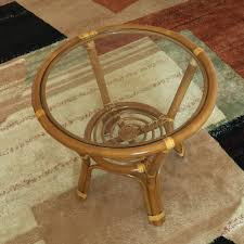 coffee table diana color light brown with glass top handmade eco friendly materials rattan wicker home furniture 3