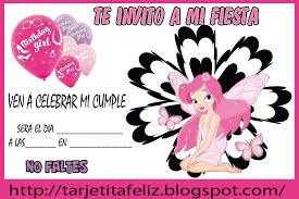tarjetas de cumplea os para ni as tarjetas de cumpleaños para imprimir invitación para niñas