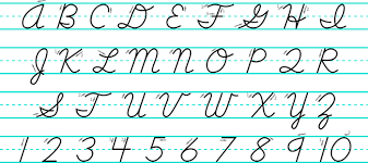all capital letters in cursive alphabet letters cursive regarding capital letters in cursive