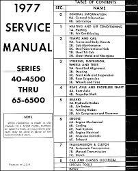 1977 chevrolet medium duty truck repair shop manual original table of contents