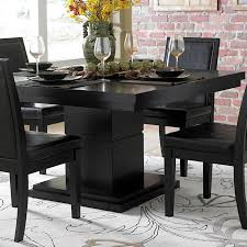 black wood dining room furniture round dining room tables for 6 black and white