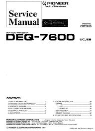 pioneer deq wiring diagram wiring diagram and schematic pioneer avh p6500dvd avhp6500dvd bo in dash car dvd players pioneer deq 7600 manuals