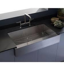 kohler vault stainless steel farmhouse sink