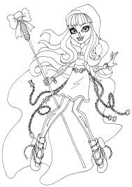 Monster High Color Page Coloring Sheets Detail Monster High Coloring