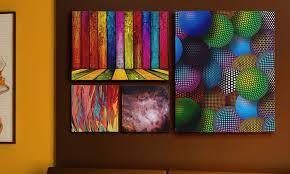 3 5 or 7 panel custom canvas print displays  on 7 panel canvas wall art with 3 5 or 7 panel custom canvas print displays groupon