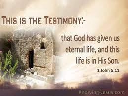 38 verses about testimony