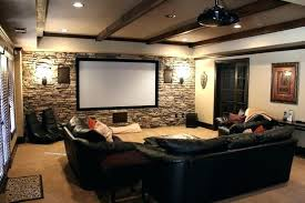 contemporary media room decorating arrangement idea. Media Room Furniture Layout. Layout Small Contemporary Decorating Arrangement Idea