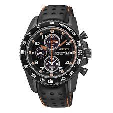 men s watches designer fashion watches h samuel seiko men s black and orange sportura chronograph watch product number 2263637
