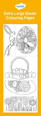 Extra Large Easter Colouring Pages Easter Easter Colouring