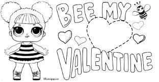 Queen Bee Lol Doll Valentine Coloring Page Lol Imprimir Sobres