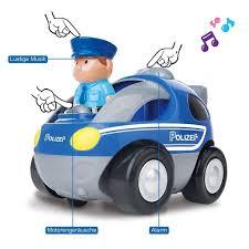 Ferngesteuertes Auto Mini Flitzer Rc Auto Spielzeugauto Für Kleinkinder Polizeiauto Dunkelblau