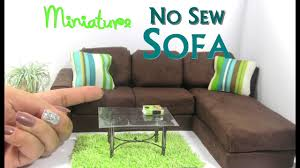 diy dollhouse furniture. DIY No Sew Modern Sectional Sofa Chaise Lounge Dollhouse Furniture Miniature Diy D