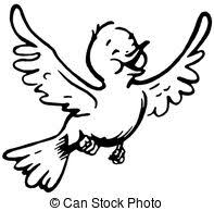 birds flying black and white clipart. Simple Birds A Black And White Version Of A Happy Looking Bird Flying Throughout Birds Flying Black And White Clipart