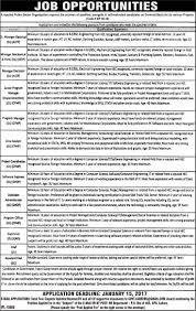 Jobs In Public Sector Organization Pakistan Lahore Jobs In
