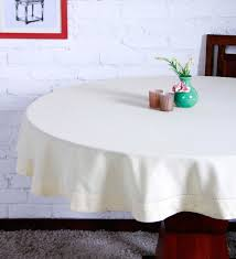cotton plain ecru table cloth