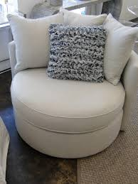 Oversized Swivel Chairs For Living Room Mitchell Gold Jeanette Round Swivel Chair In Ayers Dove 360